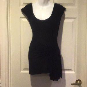 Deletta Knit tunic top cap sleeve NWOT